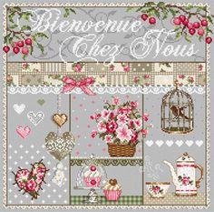 Bienvenue chez Nous From Madame La Fée - Cross Stitch Charts - Cross Stitch Charts - Casa Cenina