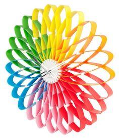 :::: ✿⊱╮☼ ☾  PINTEREST.COM christiancross ☀❤•♥•*  Rainbow Clock