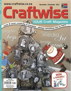 Craftwise magazine December 2012. Mimmic's pewter family tags on the front cover.