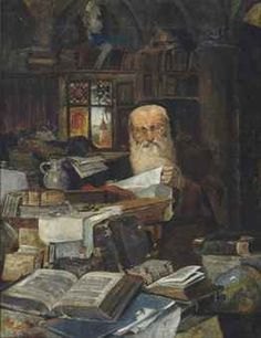 The Golem and the Jinni - A Rabbi scholar in his study Jewish History, Jewish Art, The Golem, Russian Painting, Old And New Testament, Science Art, Ancient Civilizations, Fantasy Artwork, Islamic Art