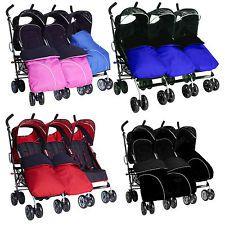 Triple pushchair Triple Twin buggy pram stroller fm birth 3 seats by kidz kargo