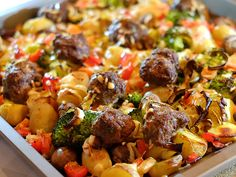 Tray Bake Recipes, Pasta Recipes, Oven Dishes, Comfortfood, Tray Bakes, Food Inspiration, Broccoli, Food And Drink, Beef