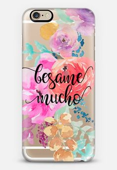 Besame Mucho - Bright Watercolor Floral 2 iPhone 6s case by Ruby Ridge Studios | Casetify