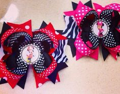 Minnie Mouse Bow/Minnie Mouse by MelanieLovesCuteBows on Etsy