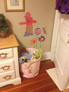 Fairy clothes basket used for toys..found at HomeGoods :)