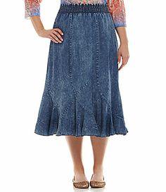 Reba Woman Lightweight Denim Skirt #Dillards