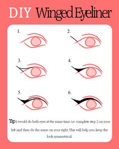DIY Winged Eyeliner. Use your EcoTools 5 Piece Brush Set for flawless results!