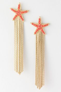 starfish and coral? perfect.I can't find these earrings.Too bad.