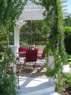 ahhh deck with pergola .....want and need at my home!