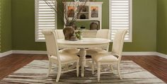 City Furniture: Claire White Woven Dining