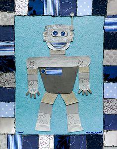 Robot Collage Canvas Art