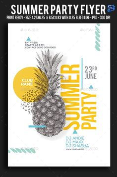 Buy Summer Party Flyer by sparkg on GraphicRiver. Summer Party Flyer It's unique flyers, poster design for your business Advertisement purpose. All Elements are in ind. Layout Design, Flugblatt Design, Cover Design, Design Ideas, Auto Poster, Poster Art, Poster Poster, Event Poster Design, Graphic Design Posters