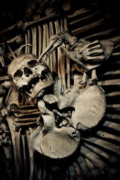 "World's greatest single work of memento mori art! Sedlec Ossuary or ""The Bone Church"" (Kutná Hora, Czech Republic)"