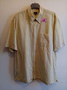 Guise Linen Short Sleeve Shirt XL Linen Shorts, Shirt Sleeves, Button Down Shirt, Men Casual, Mens Tops, Shirts, Fashion, Moda, Dress Shirt
