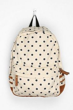 f2eaf2702 Carrot Polka Dot Backpack via @Ashley Goldberg Bolsas Mochila, Mochilas  Chica, Mochilas Cool