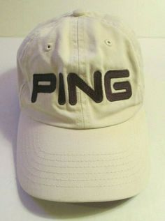 hot sale online 24e66 4c8fd Ping G2 Tan Adjustable Golf Cap Strapback Hat Cotton  fashion  clothing   shoes
