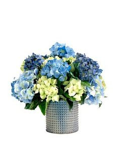 Creative Displays Blue & Green Hydrangea in Ceramic (Blue/Green) #centerpieces