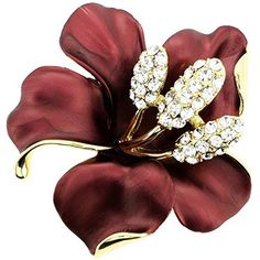 Red Hawaiian Hibiscus Flower Pin Brooch And Pendant by Fabuzone -- Awesome products selected by Anna Churchill