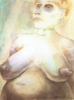 Otto Dix - Seminudo con grossi seni, 1923 circa
