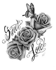 All About Art Tattoo Studio Rangiora Upstairs 5 Good Street, Rangiora. - All About Art Tattoo Studio Rangiora Upstairs 5 Good Street, Rangiora. New Zealan - Girly Tattoos, Pretty Tattoos, Flower Tattoos, Body Art Tattoos, Sleeve Tattoos, Cool Tattoos, 3 Roses Tattoo, Rose Tattoo Thigh, Tatoos