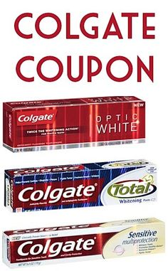 Colgate Toothpaste Coupon ~ 2.00 off 2!