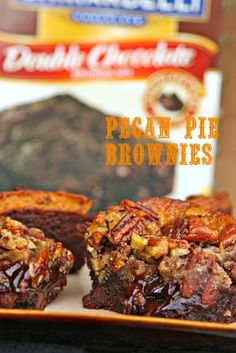 Pecan Pie Brownies {recipe}