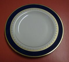"Unused Pickard 6 3 8"" Side Plate Washington Cobalt Blue Gold 
