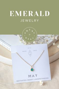 May Birthstone, May Birthday, Birthstone Necklace, Birthstone Jewelry, Dainty Jewelry, Dainty Necklace, Gold Filled Necklace, Gold Filled Jewelry, Swarovski Birthstone, Etsy Handmade, Layering Necklace, Everyday Necklace, Gift for Mother-in-law, Bridesmaid Jewelry, Bridal Jewelry, Gemstone Jewelry, Emerald Properties, Emerald Healing, Personalized Jewelry, Personalized Gift