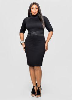 bodycon tight plus size black dress