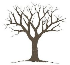 Bare tree template | Adrianna & Rob | Pinterest