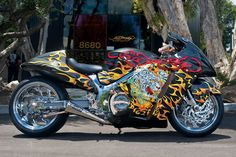 Ed Hardy Suzuki Hayabusa Edition Ed Hardy Designs, Suzuki Hayabusa, Hot Rides, Amazing Cars, Awesome, Motorcycle Bike, My Ride, Cool Bikes, Baby Car