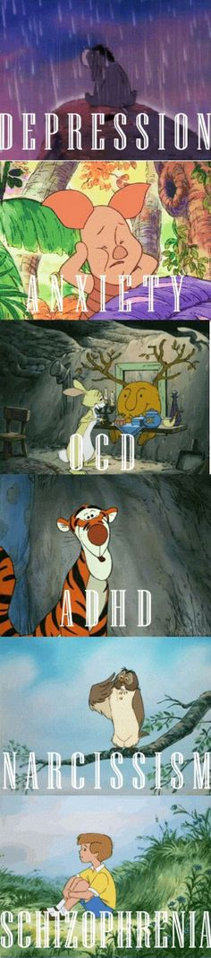 My view of Winnie the Pooh will never be the same #PsychologyProblems