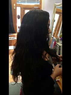 Braidless sew in on short hair. After
