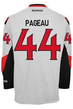 Ottawa Senators Jean-Gabriel PAGEAU #44 Official Away Reebok Premier Replica NHL Hockey Jersey (HAND SEWN CUSTOMIZATION) Ottawa, Reebok, Nhl Hockey Jerseys, Stanley Cup Finals, Hand Sewn, Gabriel, Jeans, Beginning Sounds, Gin