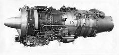 Flygmotor RM 9B (Turboméca Aubisque), tillverkad 1967, för flygplan SK 60. Monterat foto med tillhörande information. - PICRYL Public Domain Image