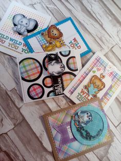 """Wild About It!Wild Cuddly Critters Stamp Set is """"In-critter-ably"""" Cute! Hello everyone, yesterday I posted a new tutorial on my YouTube channel.  10 cards 1 kit using the Simon Says …"""