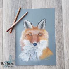 Fox portrait pastel pencil drawing – fox drawing – by Rud'art Création Crayons Pastel, Pastel Pencils, Portraits Pastel, Crayon Painting, Fox Drawing, Broken Crayons, Pencil Drawings, Most Beautiful Pictures, Creations