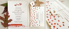 I love Bears Eat Berries custom invitiations.  How cute would this be for a Fall party or wedding?