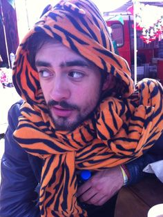 Kyle Simmons and his tiger onesie