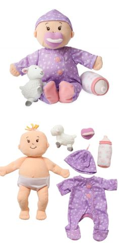 Baby Stella, the Sweet Dreams doll by Manhattan Toy Company. A huggable baby doll. This plush doll releases a soothing lavender scent as soon as you hug it.  #toy #babydoll #afflink