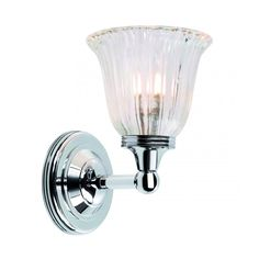 Chester Collection AUSTEN traditional IP44 chrome bathroom wall light