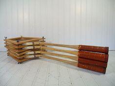 Retro Wooden Badminton Rackets Set - Vintage OutDoor Sports 6 Pieces Made in Pakistan - 4 Rackets & 2 Frames Repurpose Gameroom Decor $82.00 by DivineOrders