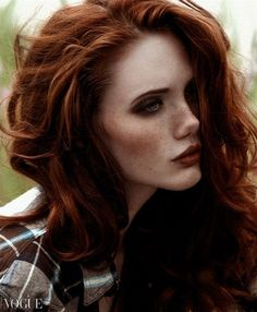 beautiful woman with red hair.: