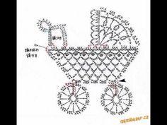 Kinderwagen - Karte Geburt/Taufe - Häkelschrift - - - - - Applicatie diagram