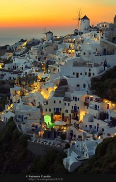 """Another """"can't believe I missed this opportunity"""". Realized all that is Santorini a bit too late after travel plans were already made for Greece. Hoping to maybe do a cruise involving Santorini down the road? Vacation Destinations, Dream Vacations, Vacation Spots, Wonderful Places, Beautiful Places, Romantic Places, Beautiful Sunset, Amazing Places, Amazing Sunsets"""