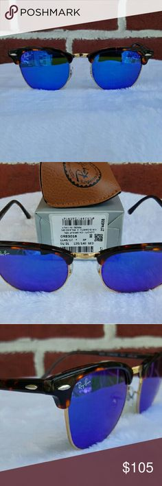 100% Authentic Ray-Ban Clubmaster Blue 51mm unisex ✔NWT ❌NO TRADES! ❌NON POLARIZED   100% Brand New & Authentic   RB 3016 114517 Sand Havana Gold   Lens Color: Blue   What's included Ray Ban Sunglasses Ray Ban Case Ray Ban Cloth   All my rayban sunglasses come from a luxottica authorized distributor  100% Authentic Genuine Rayban Sunglasses Ray-Ban Accessories Sunglasses