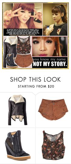 """""""Even when the sky is falling down"""" by aliicia21 ❤ liked on Polyvore featuring Rick Owens, L.A.M.B. and American Eagle Outfitters"""
