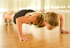 No. 5: Push-Ups    Why it's a winner: Push-ups strengthen the chest, shoulders, triceps, and core muscles.