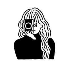 Camera girl #camera #girl #fashion #seijimatsumoto #松本誠次 #art #draw #graphic #illustration #イラスト #カメラ #ファッション