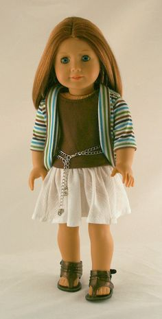 American Girl Doll Clothes  Stripe Jacket White by Forever18Inches, $27.99